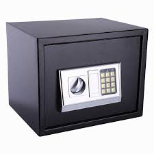 Security Cabinet Lock Box Money Coins Jewelry Key Cash Storage Cabinet Metal Safe
