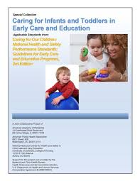 caring for infants and toddlers in early care and education i t