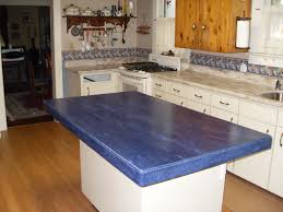 furniture blue corian countertop kitchen island and wooden
