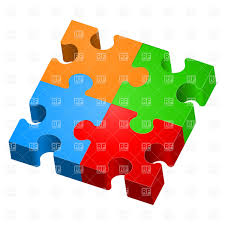 3d colorful jigsaw puzzles vector clipart image 7190 rfclipart