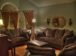 country living room paint schemes black piano brown curtains white