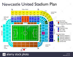 metro arena floor plan newcastle united football ground stadium plan stock photo royalty