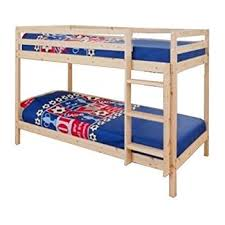 2ft6 small single wooden bunk bed in natural pine zara amazon co