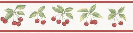 Kitchen Wallpaper Borders Cherries Border Red Border By Galerie Wallpaper Pinterest