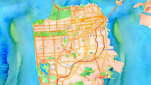 San Francisco Google Map by Gorgeous Interactive Watercolor Map Is Computer Generated Tested