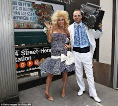 80s Prom Men Jenny Mccarthy And Donnie Wahlberg Hit Times Square In Fancy Dress