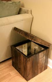 Diy Storage Ottoman Cube Reclaimed Pallet Wood Furniture Storage Cubed Ottoman Stained