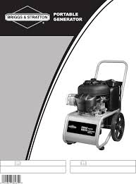 briggs u0026 stratton portable generator 30205 user guide