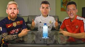How To Do Challenge With Water Footballers Do Water Bottle Flip Challenge Ft Cristiano Ronaldo