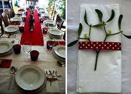simple christmas table decorations diy christmas table decorations in red my italian wedding ribbons