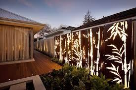 par vue de jardin brise vue jardin et déco en acier corten 30 idées splendides