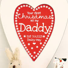 personalised daddy 1st christmas heart by birdyhome
