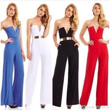 evening jumpsuits evening jumpsuit strapless wide leg jumpsuits