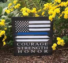 courage strength and honor flag 14x14 pallets by design
