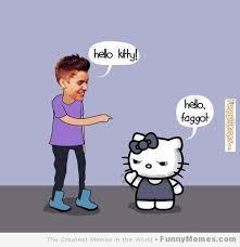 Hello Kitty Meme - justin bieber hello kitty nikki s picture s pinterest