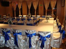 royal blue chair covers chair covers sashes noretas decor inc