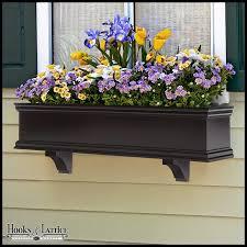 Black Planter Boxes by Black Window Boxes Pvc Window Flower Boxes Diy Hooks And Lattice
