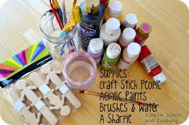 craft stick puppets perfect for something on a stick day simple