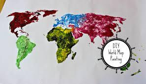Target World Map by Diy World Map Painting Thoserosiedays Youtube Loversiq