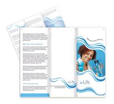 packaged drinking water business brochure template designs