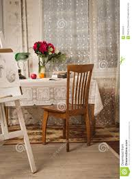vintage livingroom vintage living room with fashioned table and chair stock image