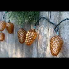 woodland pinecone outdoor party lights trees great gifts for