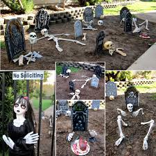 Halloween Home Decor Catalogs by Front Yard Graveyard Halloween Home Decorating Interior Design