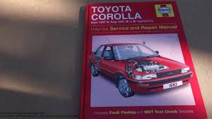 service and repair manual review toyota corolla 1987 to 1992 youtube