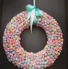 baby shower wreath bluebonnet press lollipop wreath