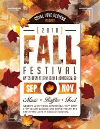 fall flyer free autumn and fall festival flyer templates by