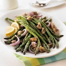 oven roasted asparagus mushrooms recipe land o lakes