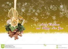 merry and happy new year gold background with balls