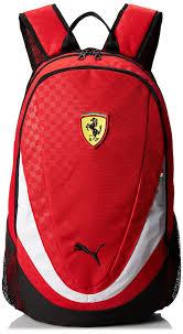 cartoon ferrari amazon com puma men u0027s ferrari replica backpack black one size