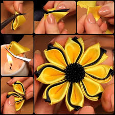 best 25 kanzashi flowers ideas on ribbon flower