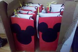 mickey mouse favor bags a mickey mouse birthday party things