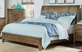 California King Sleigh Bed Rustic Casual Gray 6 Piece California King Bedroom Set Nelson