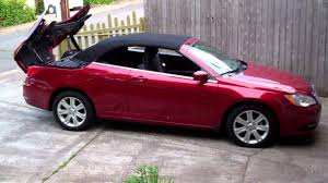 standard chrysler 200 remotely activated convertible top on a 2012 chrysler 200 youtube