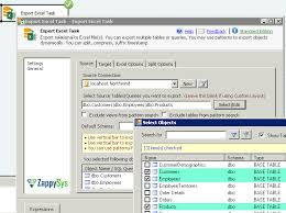 sql select from multiple tables ssis export to excel dynamically supports multiple tables