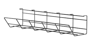 under table cable tray furna under desk cable management tray 500mm