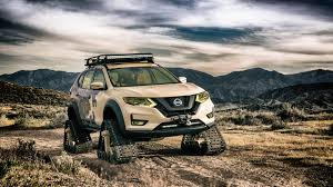 nissan rogue quarter mile nissan attacks the trails with tracks wearing rogue warrior