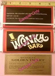 wonka bars where to buy 1 55 oz willy wonka chocolate bar wrapper golden