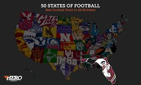 Colleges In Florida Map by The Best College Football Team In Every State Regardless Of