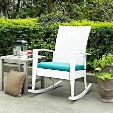 wicker rocking chairs indoor outdoor patio porch white high back
