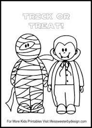 mummy coloring kids fun halloween