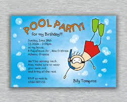 18th Birthday Invitation Card Designs Birthday Pool Party Invitations Plumegiant Com