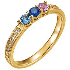 6 mothers ring gold 1 to 6 stones s ring