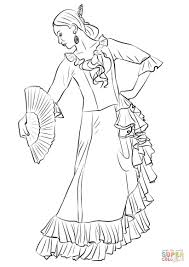 spanish flamenco dancer coloring free printable coloring pages