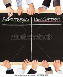 advantages and disadvantages stock images royalty free images