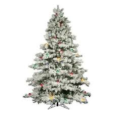 9 foot christmas tree flocked alaskan 9 foot christmas tree w 900 multi color mini