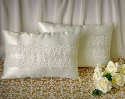 wedding kneeling pillows set of 2 white or ivory wedding kneeling pillows ceremony